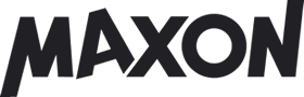 logotype of the maxon brand