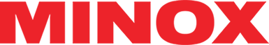 logotype of the minox brand